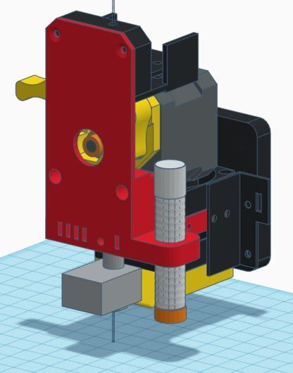 D9 Extruder as on Thingverse