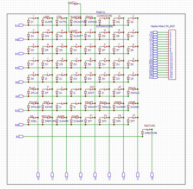 C64 PCB Matrix