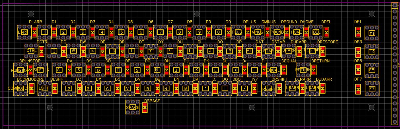 Thru Hole Keyboard PCB - First spin