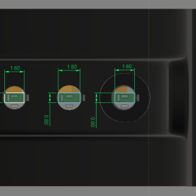 Specnext PCB inserts cross section actual render dimensions 3