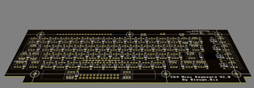 C64 MINI KEYBOARD 3D Render